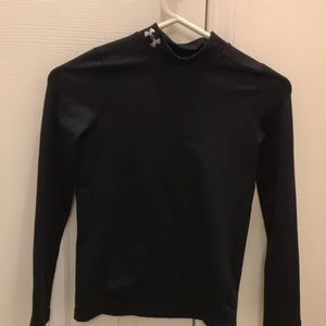 Barely used black Under Armor cold gear shirt